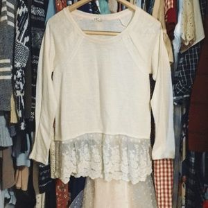 Lacey cream blouse/sweater